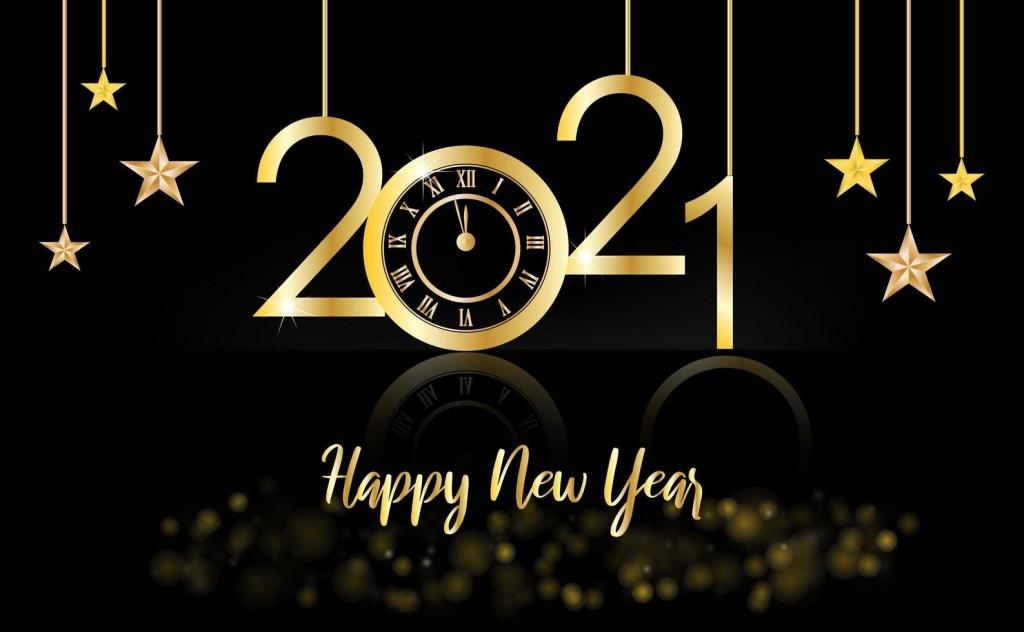 1268637-bonne-annee-2021-or-et-fond-noir-avec-une-horloge-et-etoiles-gratuit-vectoriel